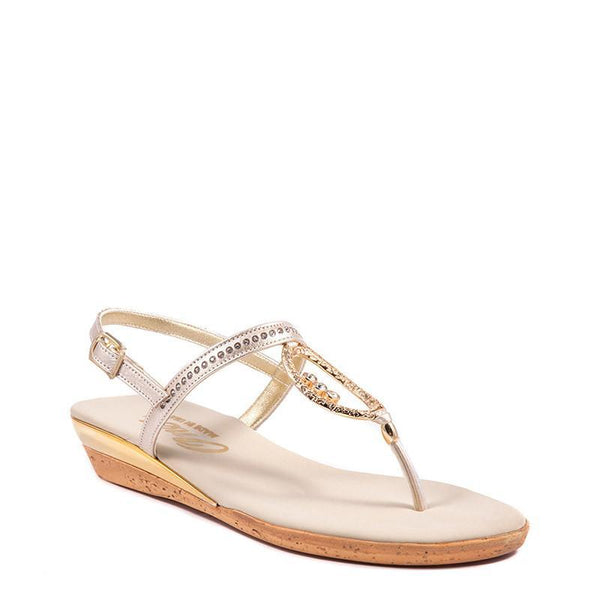 Gold Rolo Onex Sandal By Onex Shoes
