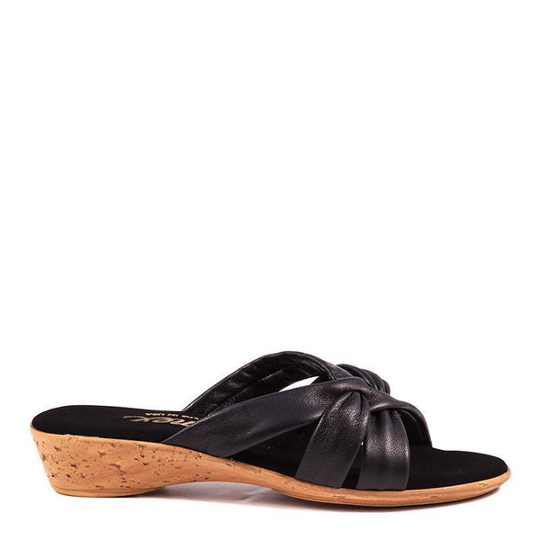 Sail Onex Sandal In Black By Onex Shoes