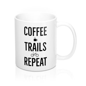 Uphill Industries Coffee Trails Repeat Coffee Mug - Uphill Industries Cycling Apparel