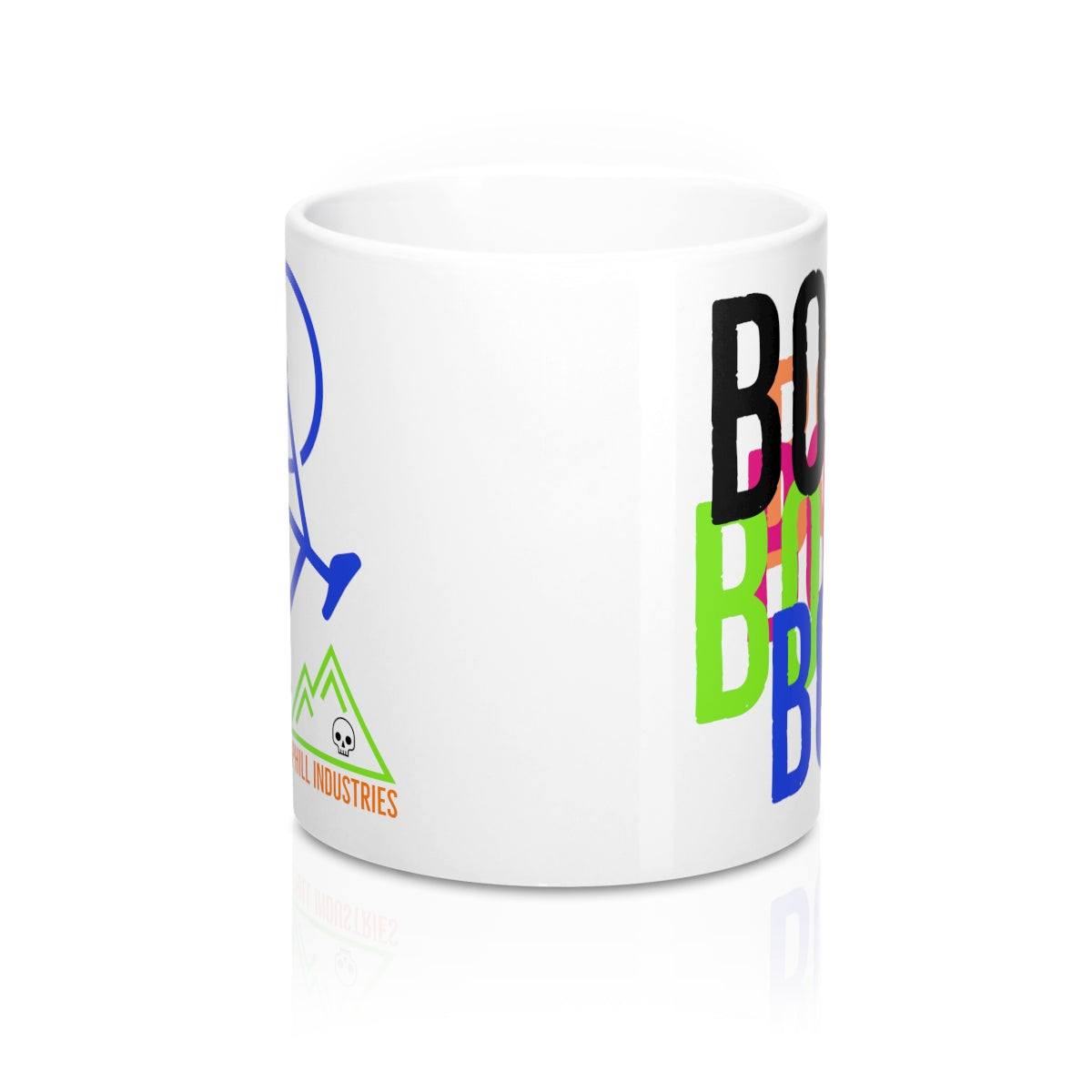 Uphill Industries Cycling Coffee Mug - BONK #dead - Uphill Industries Cycling Apparel