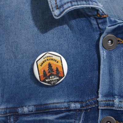 Uphill Industries Go Outside Cycling Pin Buttons
