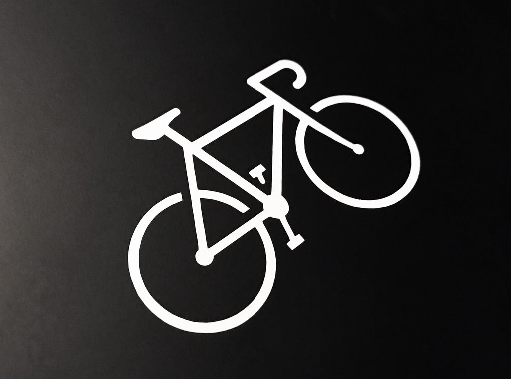 Uphill Industries Simple Cycle Die Cut Sticker - Uphill Industries Cycling Apparel