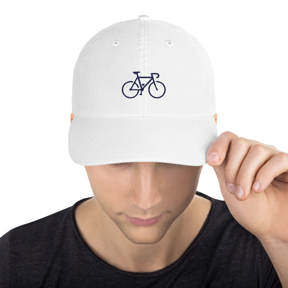 Champion Dad Hat Simple Cycle in White + Navy