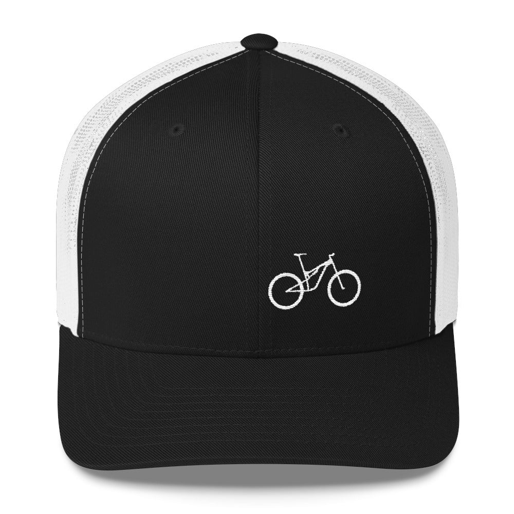 Uphill Industries Simple Cycle Niner MTB Trucker Hat - Uphill Industries Cycling Apparel
