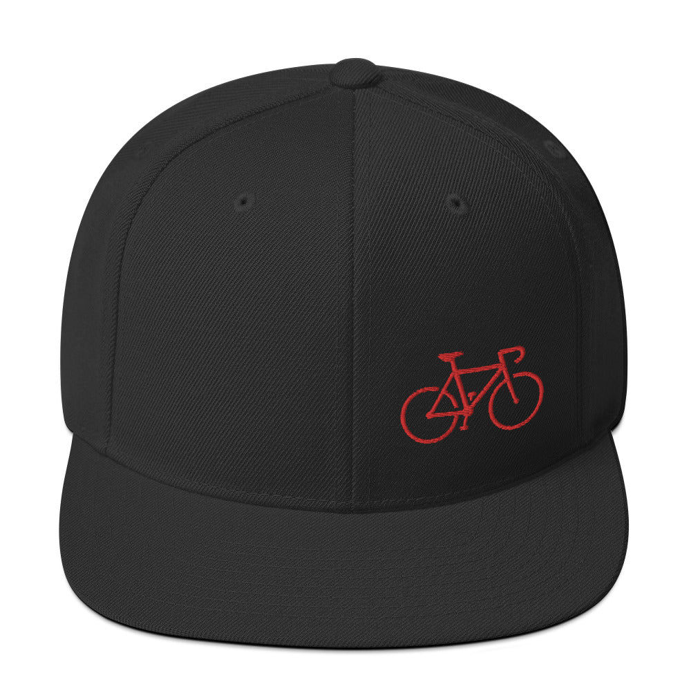 Uphill Industries Simple Cycle Snapback Hat in Red