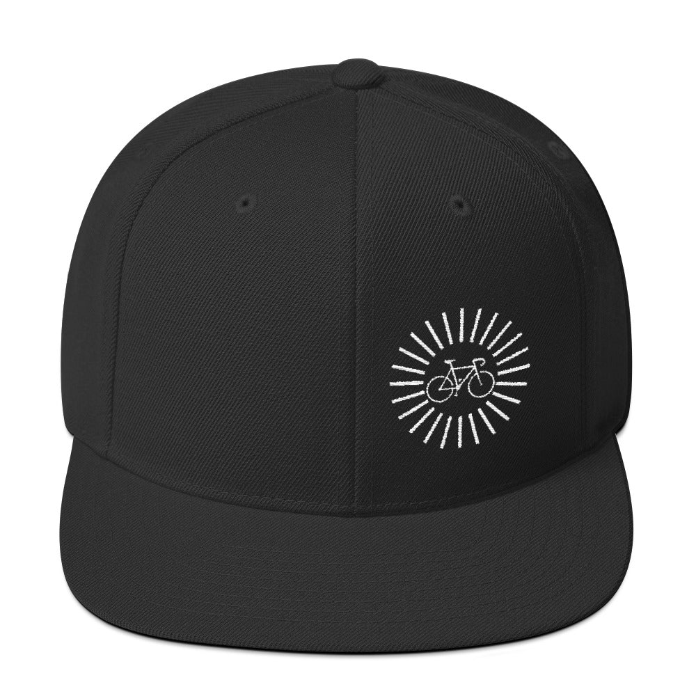 Uphill Industries Simple Cycle Sunrise Snapback Hat - Uphill Industries Cycling Apparel
