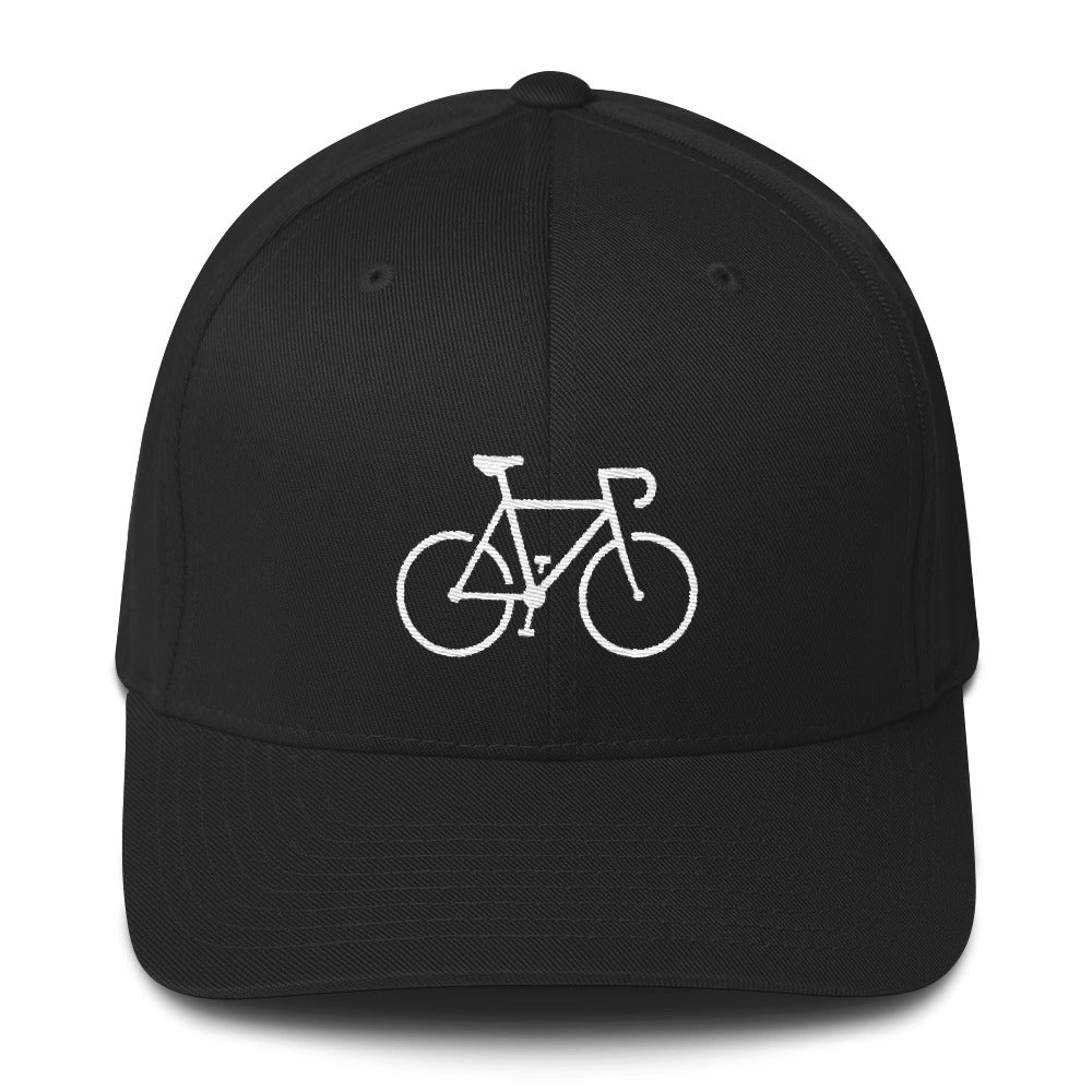Uphill Industries Simple Cycle Road Bike Flexfit Fitted Hat - Uphill Industries Cycling Apparel