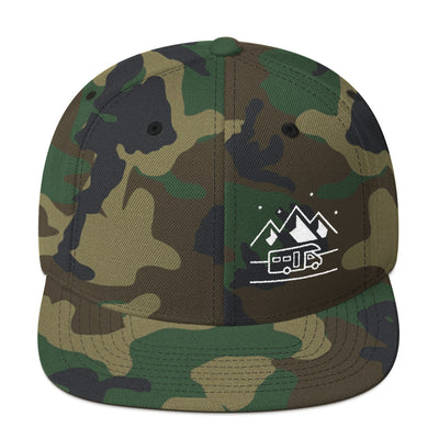 Uphill Industries Happy Camper Snapback Hat - Uphill Industries Cycling Apparel