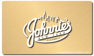 $100 Gift Card - Johnnie's New York Pizza 5757 Wilshire Blvd # 102 Los Angeles 90036 www.lajohnniesnypizzeria.com Miracle Mile Johnnys Pizza