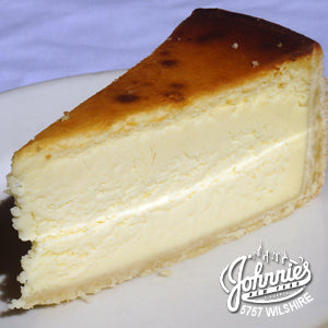 NY Cheesecake - Johnnie's New York Pizza 5757 Wilshire Blvd # 102 Los Angeles 90036 www.lajohnniesnypizzeria.com Miracle Mile Johnnys Pizza