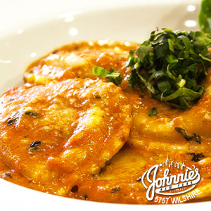 Chicken Ravioli (Catering) - Johnnie's New York Pizza 5757 Wilshire Blvd # 102 Los Angeles 90036 www.lajohnniesnypizzeria.com Miracle Mile Johnnys Pizza
