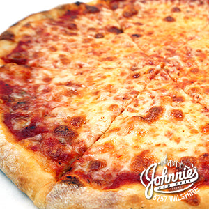 Large Cheese Pizza (Catering) - Johnnie's New York Pizza 5757 Wilshire Blvd # 102 Los Angeles 90036 www.lajohnniesnypizzeria.com Miracle Mile Johnnys Pizza