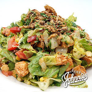 BBQ Chicken Salad - Johnnie's New York Pizza 5757 Wilshire Blvd # 102 Los Angeles 90036 www.lajohnniesnypizzeria.com Miracle Mile Johnnys Pizza