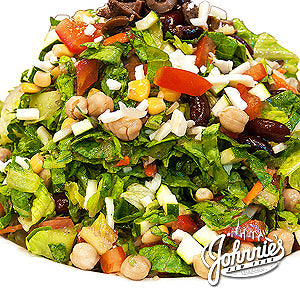 Vegetarian Chopped Salad - Johnnie's New York Pizza 5757 Wilshire Blvd # 102 Los Angeles 90036 www.lajohnniesnypizzeria.com Miracle Mile Johnnys Pizza