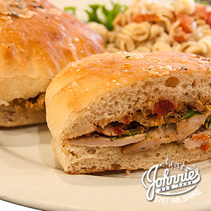 Chicken Panini (Catering) - Johnnie's New York Pizza 5757 Wilshire Blvd # 102 Los Angeles 90036 www.lajohnniesnypizzeria.com Miracle Mile Johnnys Pizza