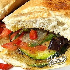 Vegetable Sandwich - Johnnie's New York Pizza 5757 Wilshire Blvd # 102 Los Angeles 90036 www.lajohnniesnypizzeria.com Miracle Mile Johnnys Pizza