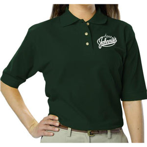 Johnnie's Women's Polo - Johnnie's New York Pizza 5757 Wilshire Blvd # 102 Los Angeles 90036 www.lajohnniesnypizzeria.com Miracle Mile Johnnys Pizza