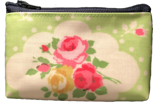Strawberry – Monedero Pequeño Verde Rosas