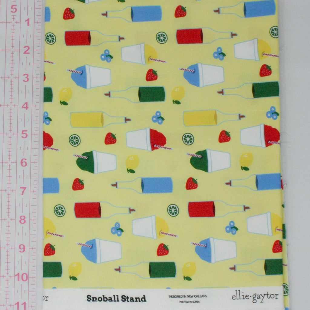 Elliegaytor Fabrics - Snoball Stand on(yellow background