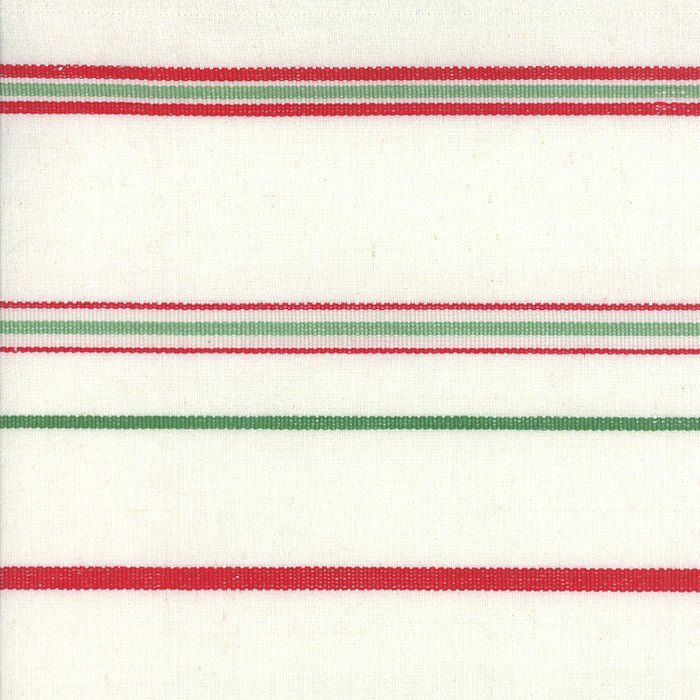 Moda Fabrics -  Toweling White Red Green