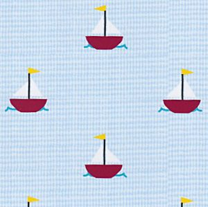 Fabric Finders Faabric - Sailboat : Light Blue Microcheck