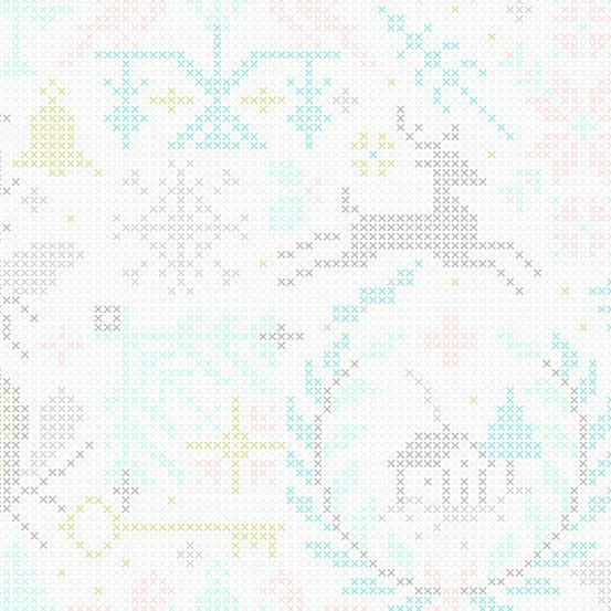 Andover Fabrics – Allison Glass - Holiday - Crossed  - Snowflake
