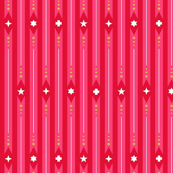ANDOVER FABRICS – ALLISON GLASS - HOLIDAY - RIBBON - PEPPERMINT