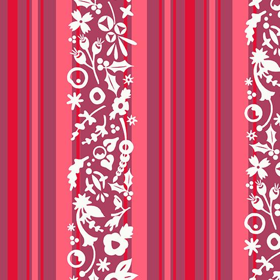 ANDOVER FABRICS – ALLISON GLASS - HOLIDAY - STRIPE - CINNAMON