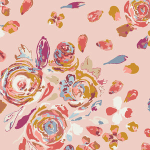 Art Gallery Fabrics -  Swifting Flora Rosewood In Rayon