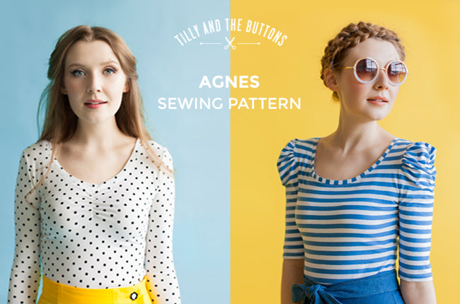 TILLY AND THE BUTTONS - AGNES JERSEY TOP
