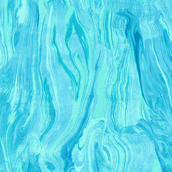 Andover Fabrics – Marble - Teal