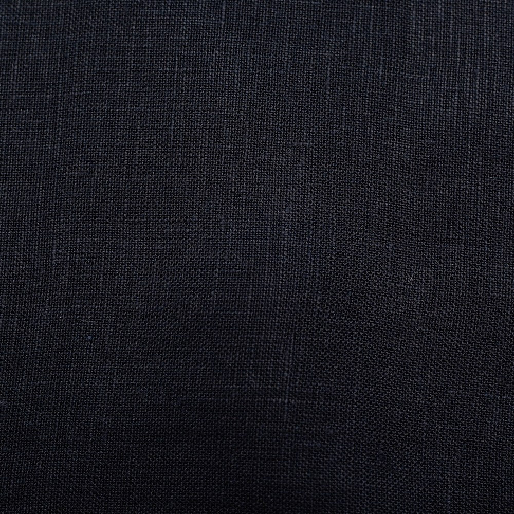 BIRCH FABRICS - BLACK SOLID YARN DYED LINEN