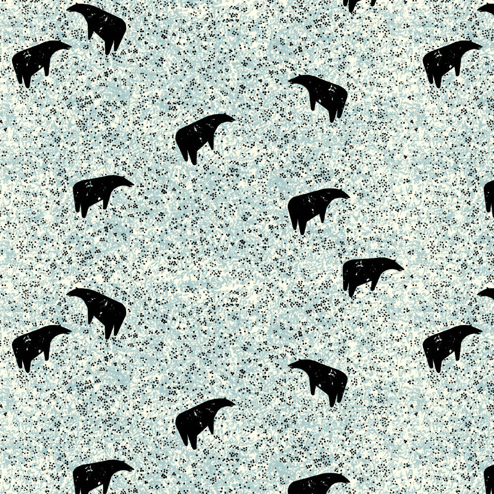 BIRCH FABRICS - NEW FRONTIER:BEAR GRAZING