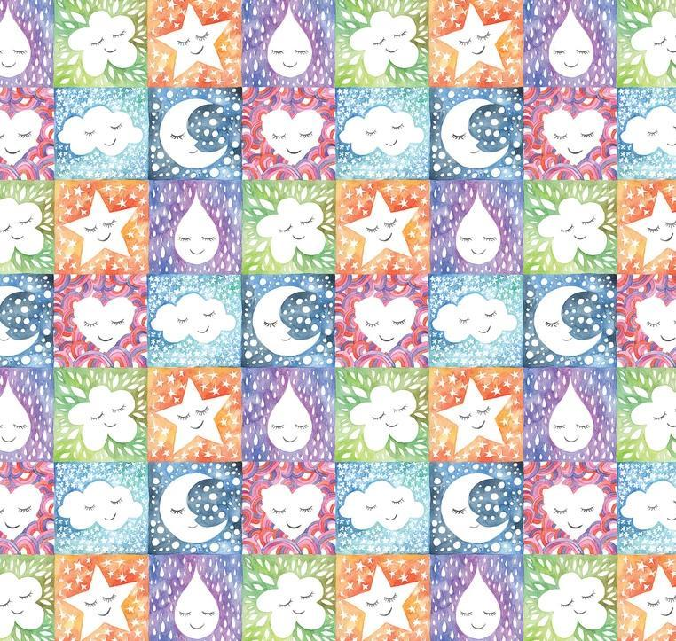 BLEND FABRICS - HAPPY SKIES NATURAL SMILES - MULTI