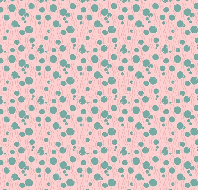 BLEND FABRICS - KT CONGO HIPPO - LILLY PAD - PINK