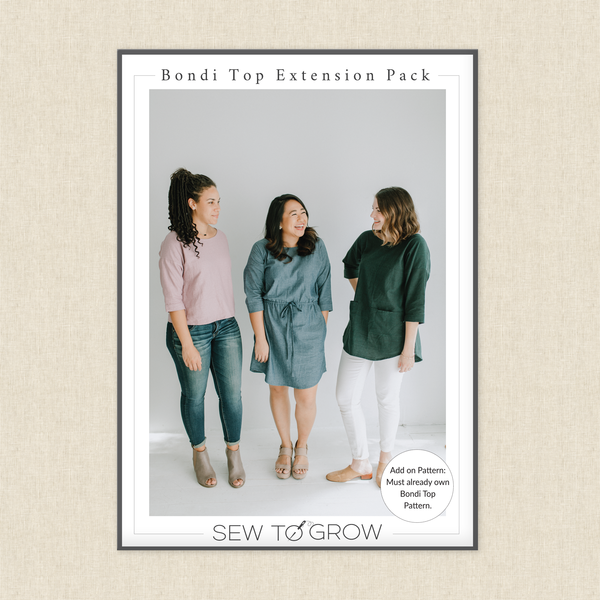 SEW TO GROW - BONDI TOP EXTENSION PACK PATTERN
