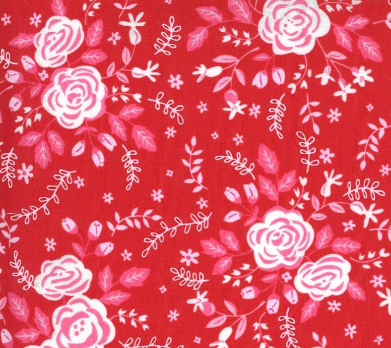 Moda Fabrics  - Be Mine Kisses - Roses
