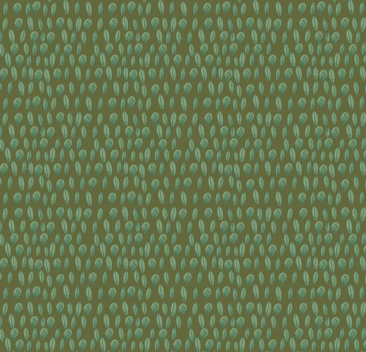 Blend Fabrics - Forest Friends - Sweet Leaves Olive