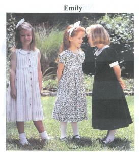 CHILDREN'S CORNER PATTERNS -  EMILY 8 - 12 YRS