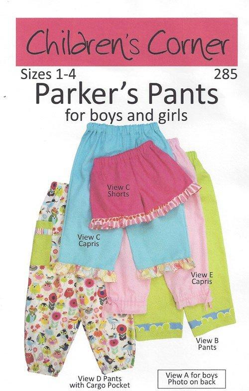 CHILDREN''S  CORNER PATTERNS  - PARKER PANTS - SIES 1 - 4