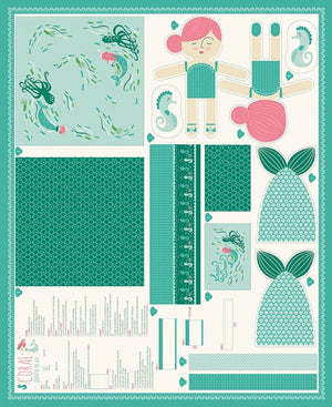Moda Fabrics - Coral Queen Of Sea - Moda - Panel