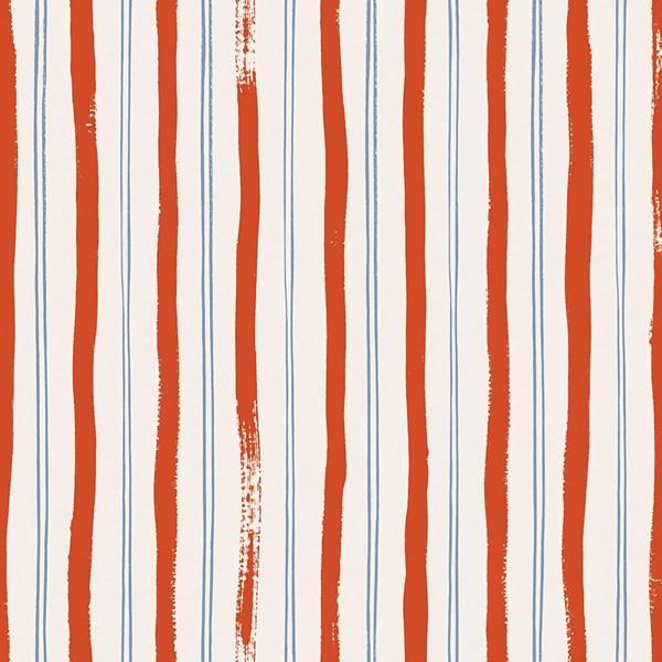 COTTON + STEEL FABRICS-  RIFLE PAPER CO -  MEADOW - STRIPES - RED