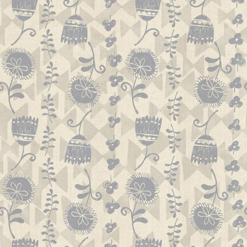 Cotton +Steel Fabrics - Mori No Tomodachi - Ohana Katen - Neutral Unbleached Cotton Fabric