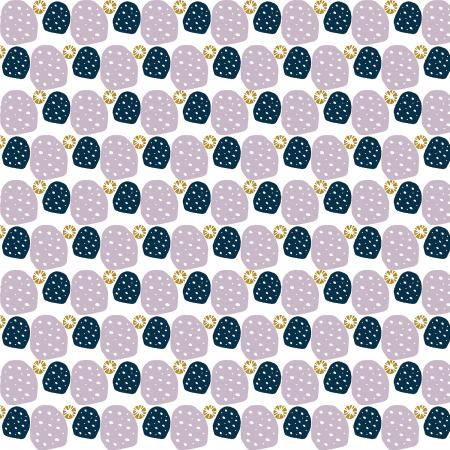 Cotton & Steel Fabrics  - Mountains, Rocks, and Pebbles - Sweet Pebbles - Delightfully Golden Metall