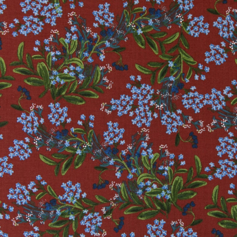 COTTON + STEEL FABRICS -  MEADOW - CORNFLOWER - BURGUNDY