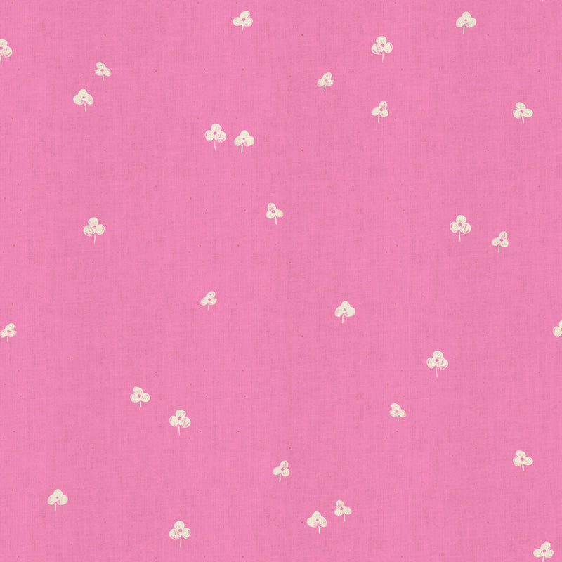 COTTON+STEEL BASICS - CLOVER AND OVER - SWEET PEA UNBLEACHED FABRIC