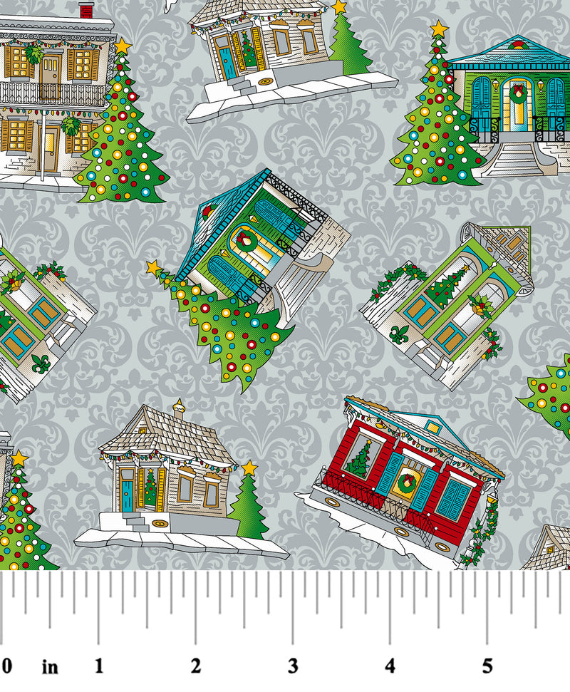 Fabric Finders Fabric -Creole Christmas House