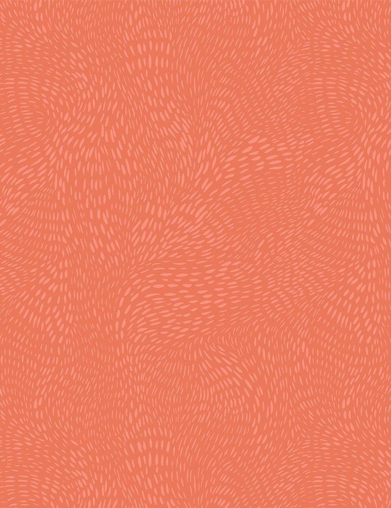 Dear Stella Fabric  - Dash Flow - Tangerine