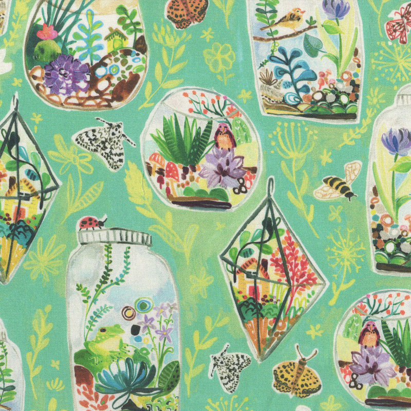 Dear Stella Fabrics -August Wren - Midsummer - Terrariums  i- Multi