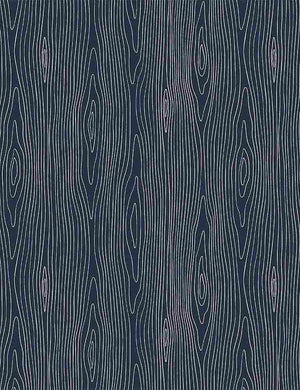 Dear Stella Fabrics  -  Chop It Like It's Hot -  Wood Grain - Midnight